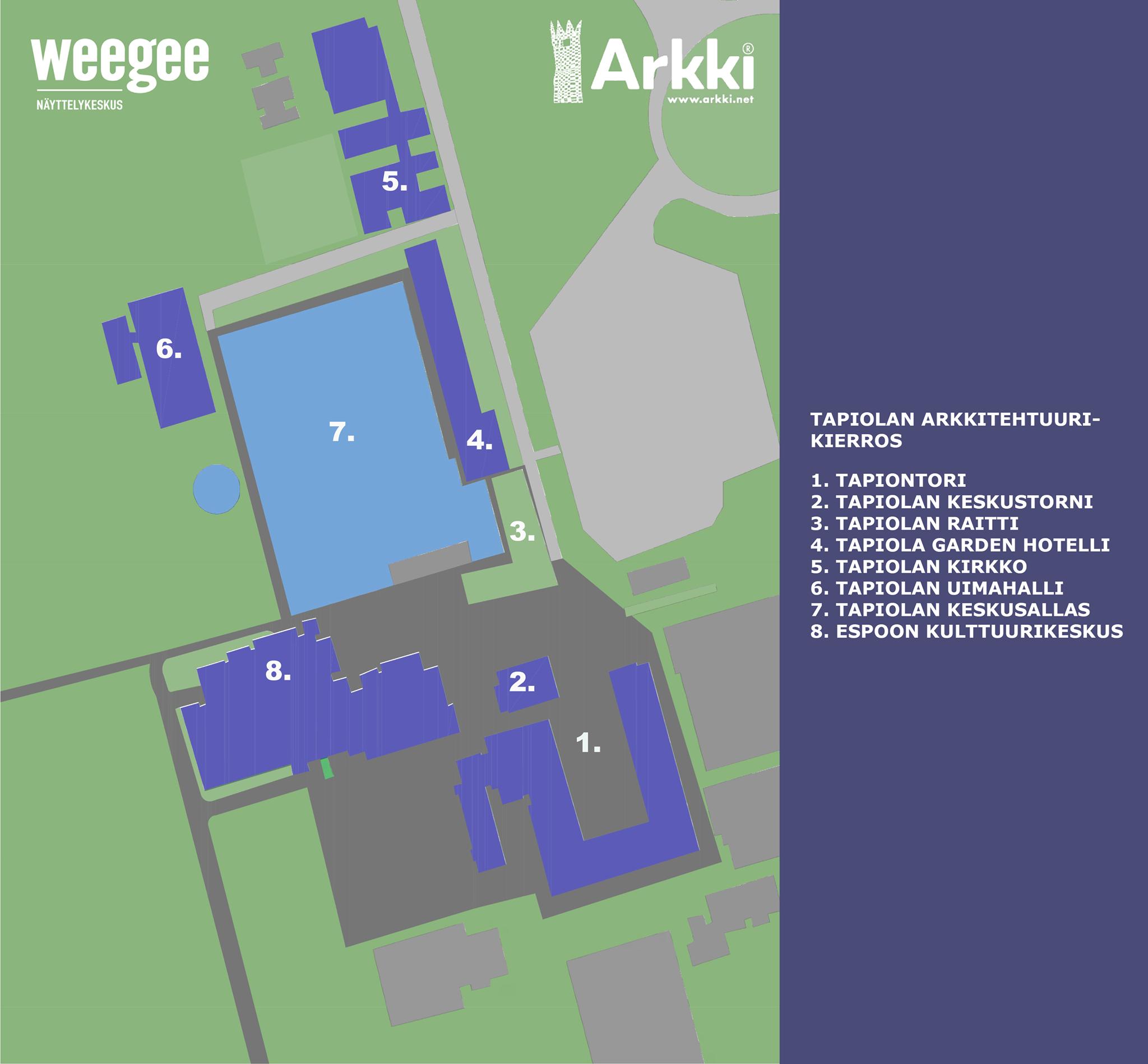Arkkitehtuurikävelylle Tapiolaan ja Otaniemeen